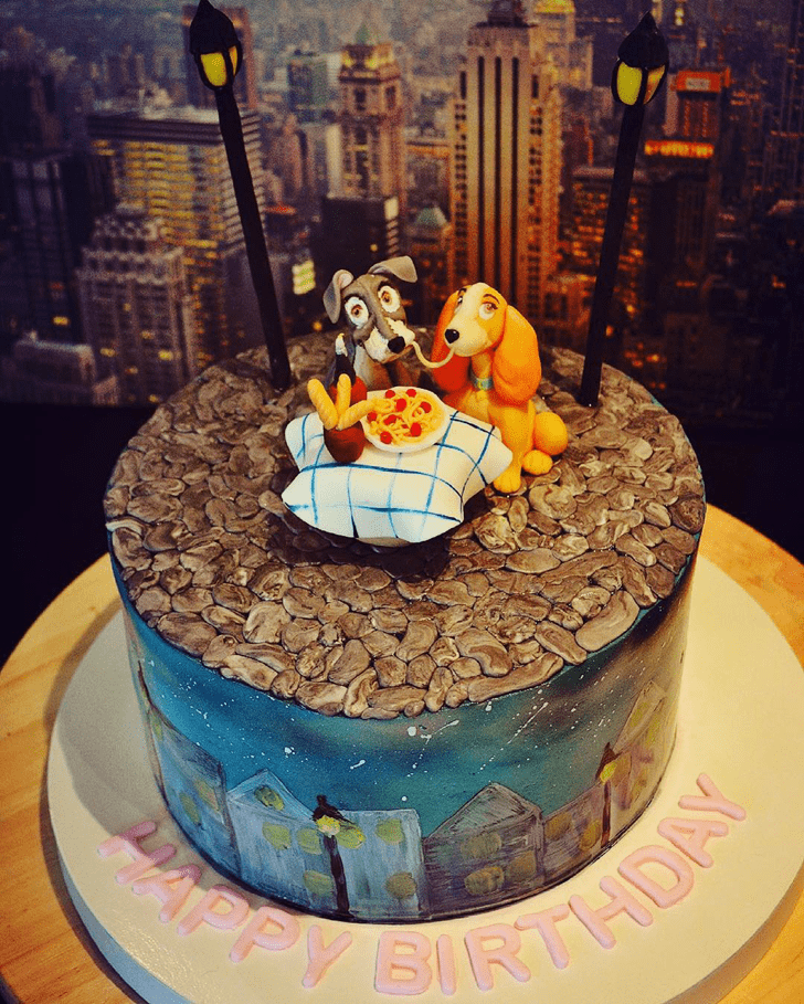 Inviting Lady and the Tramp Cake