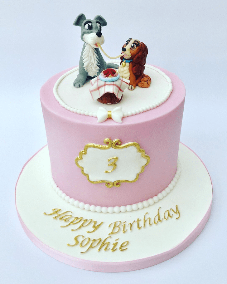 Lovely Lady and the Tramp Cake Design