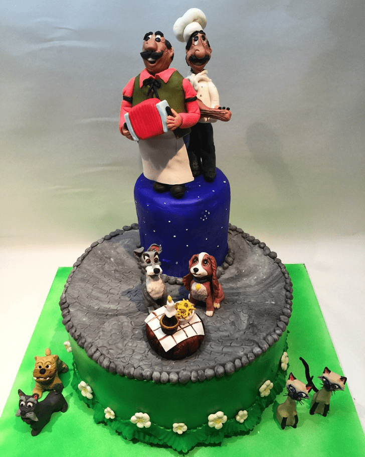 Pleasing Lady and the Tramp Cake
