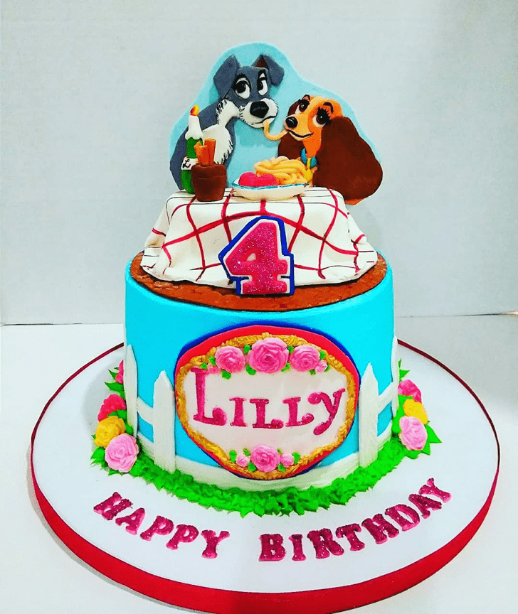 Pretty Lady and the Tramp Cake