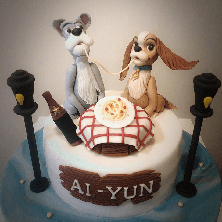Ravishing Lady and the Tramp Cake