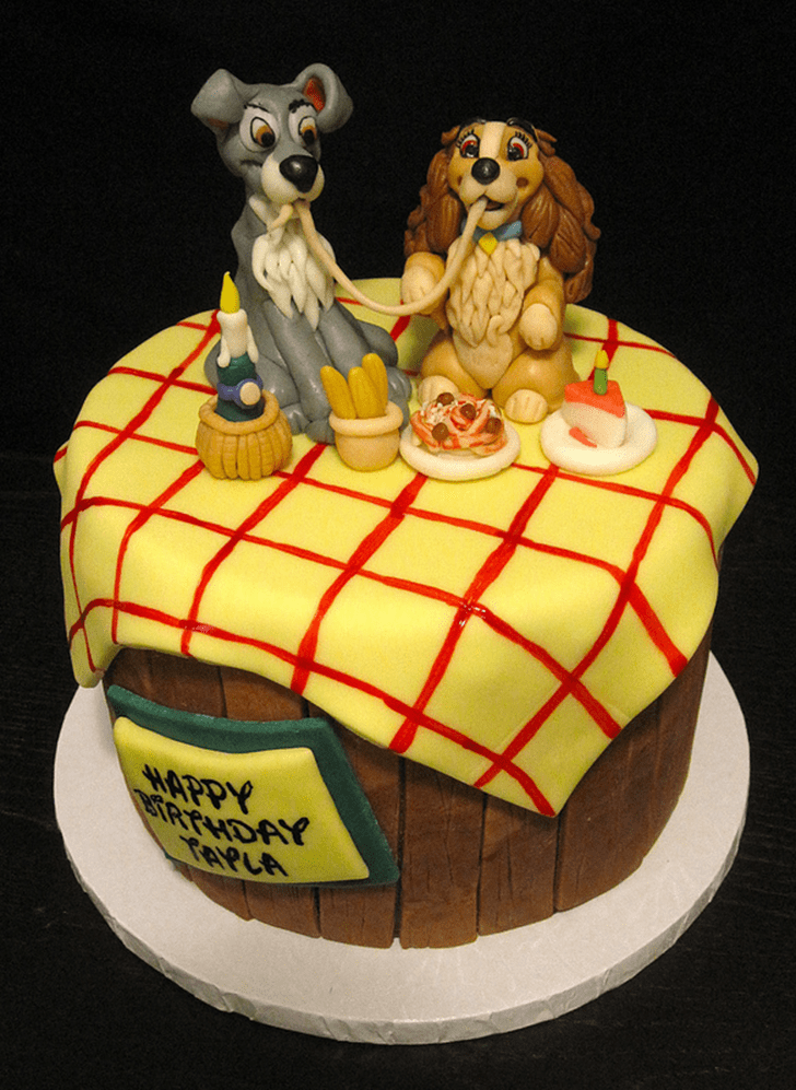 Resplendent Lady and the Tramp Cake