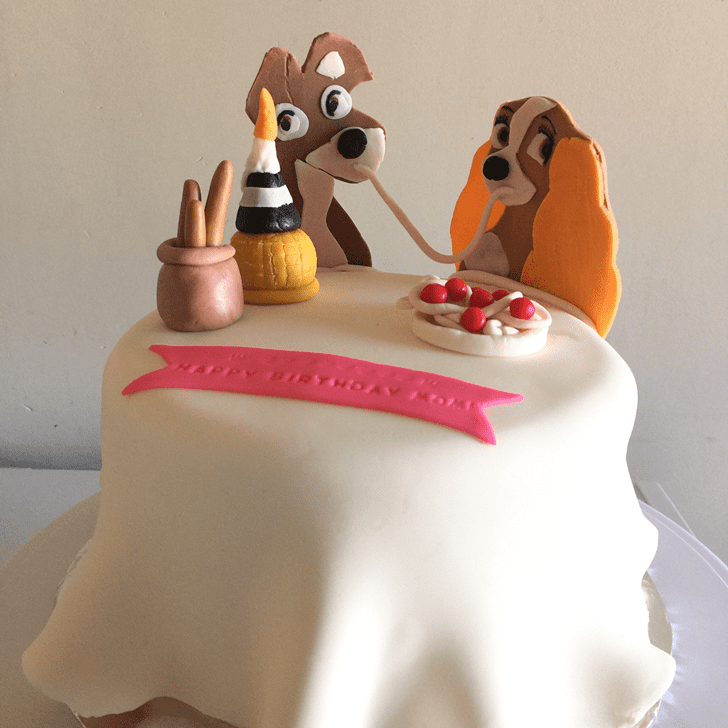 Shapely Lady and the Tramp Cake