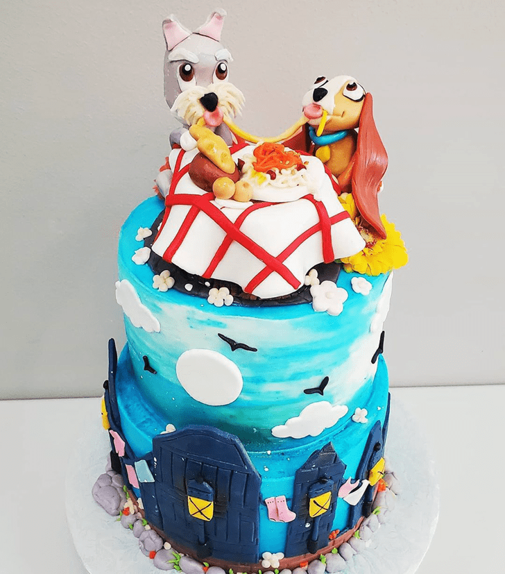 Slightly Lady and the Tramp Cake