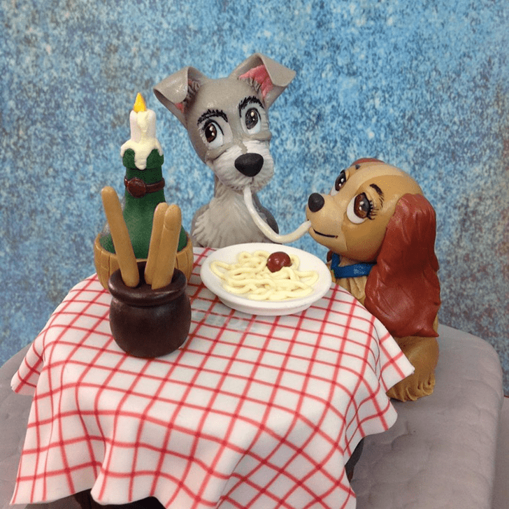 Stunning Lady and the Tramp Cake