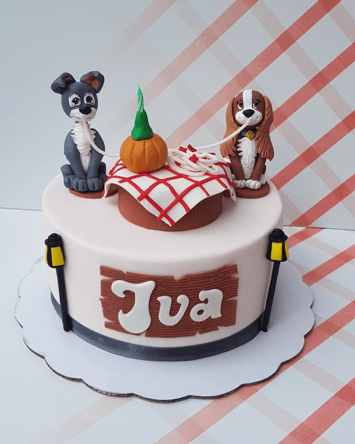 Superb Lady and the Tramp Cake