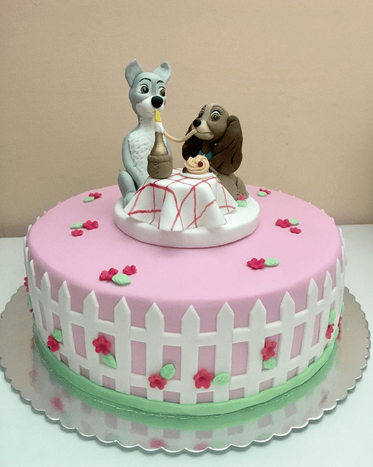 Wonderful Lady and the Tramp Cake Design