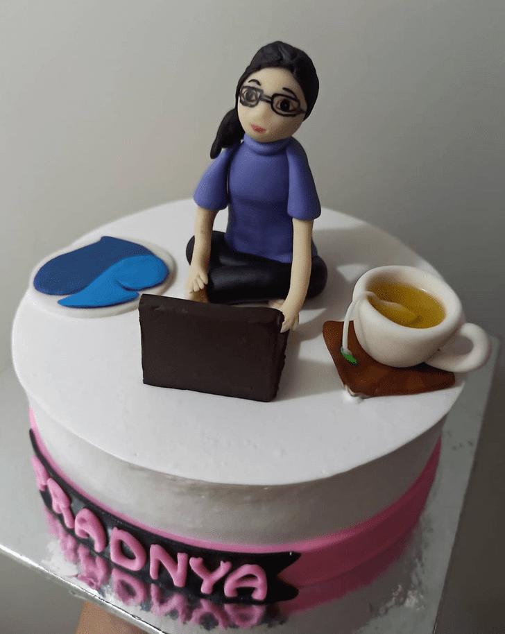 Adorable Laptop Cake