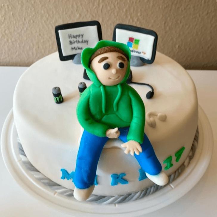 Alluring Laptop Cake