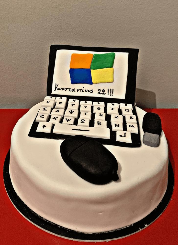 Bewitching Laptop Cake