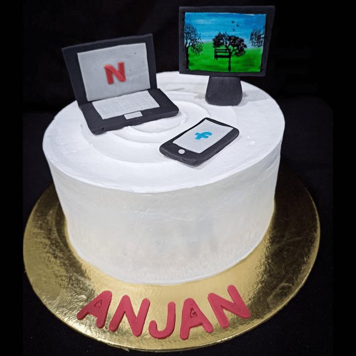 Charming Laptop Cake