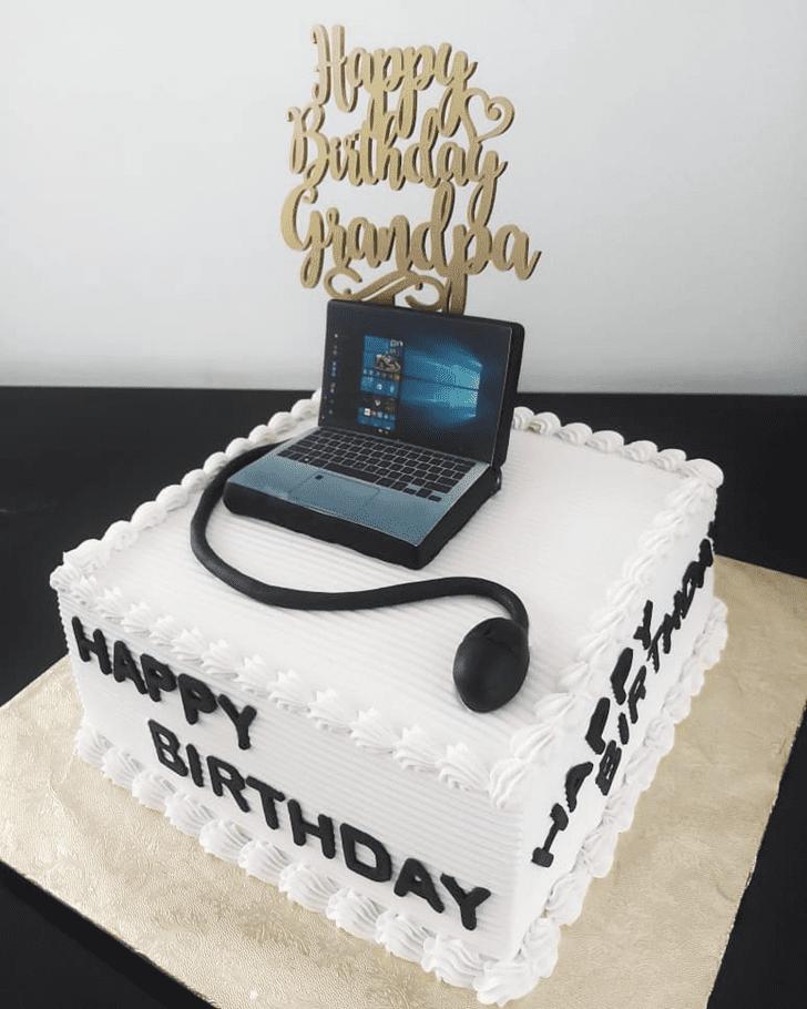 Classy Laptop Cake