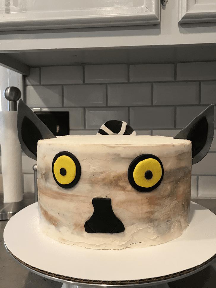 Admirable Lemur Cake Design
