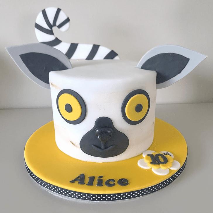 Appealing Lemur Cake
