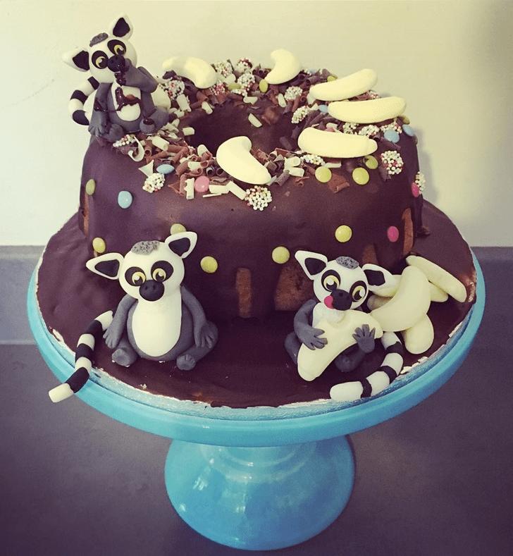 Captivating Lemur Cake