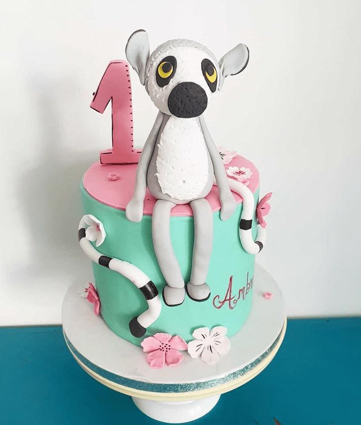 Delightful Lemur Cake