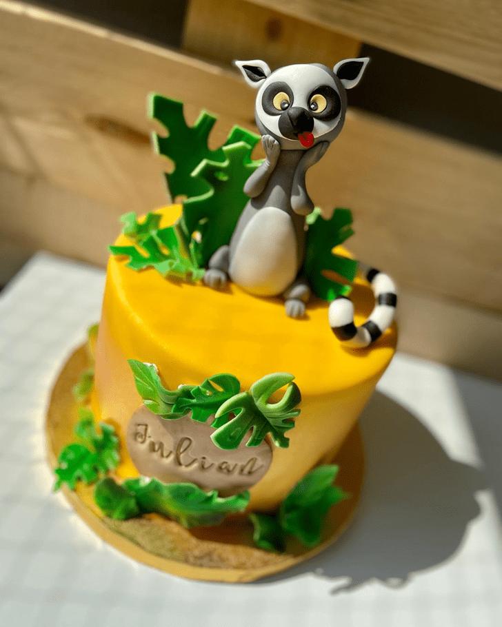Enticing Lemur Cake