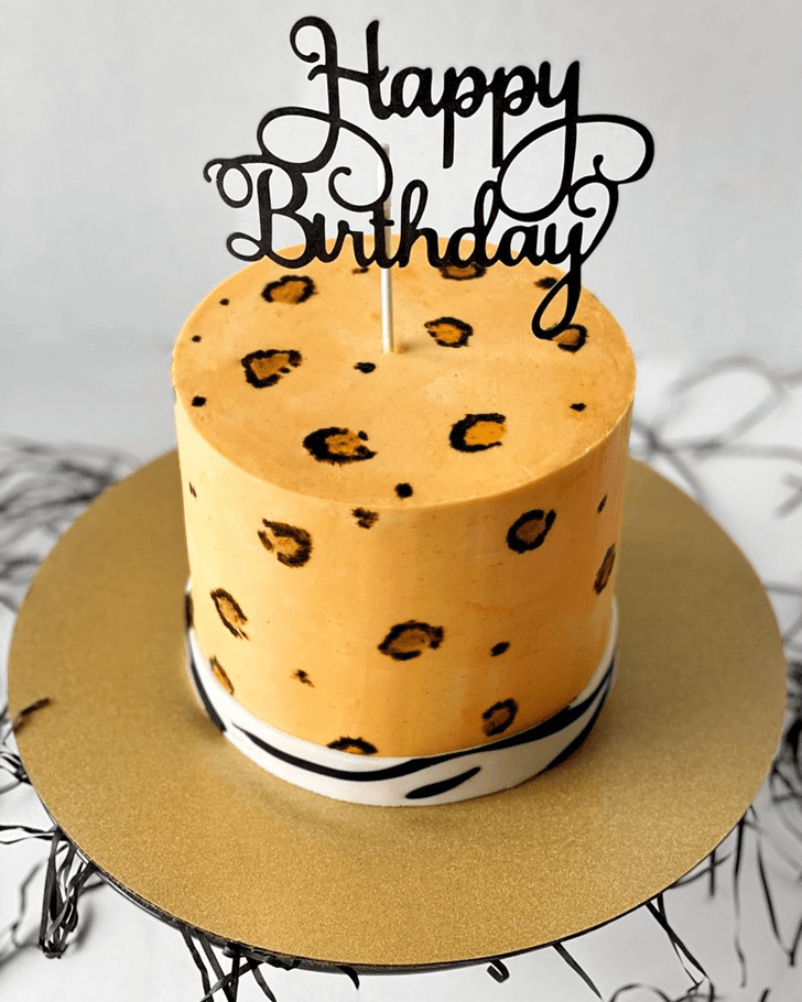 Angelic Leopard Cake