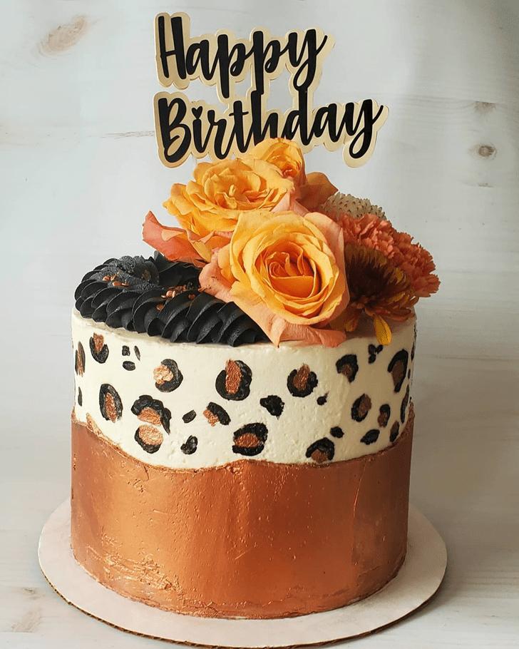 Beauteous Leopard Cake