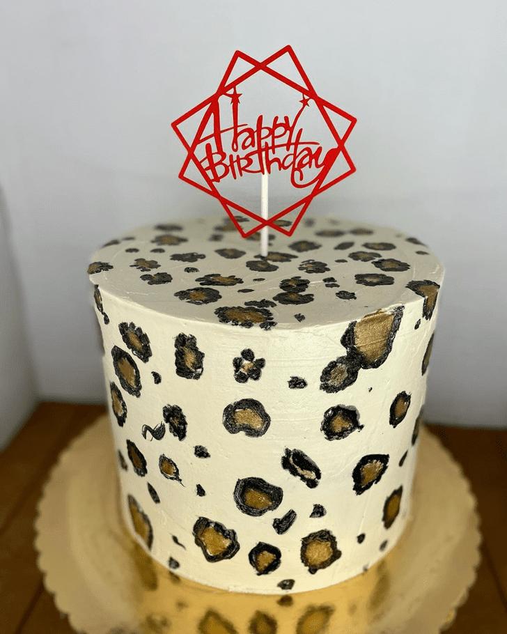 Cute Leopard Cake