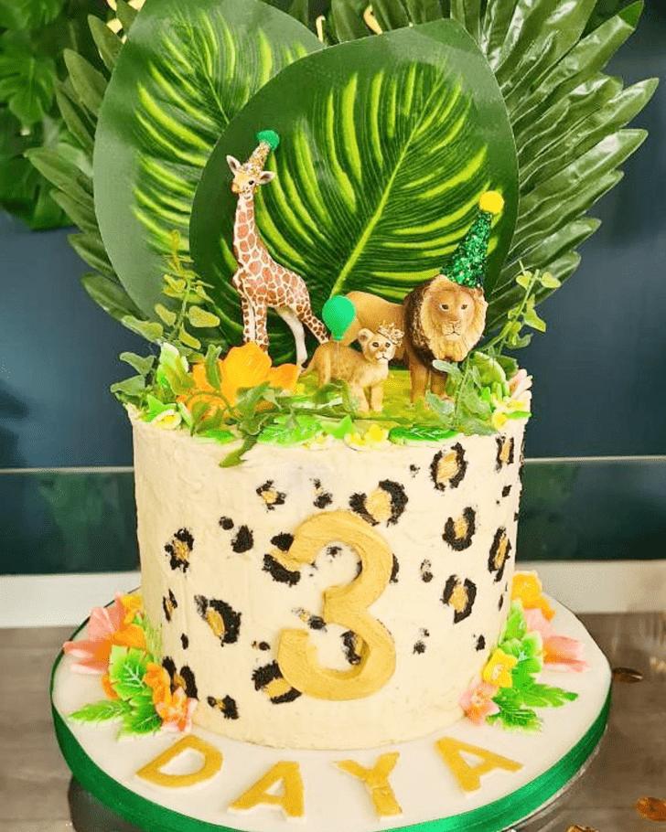 Dazzling Leopard Cake