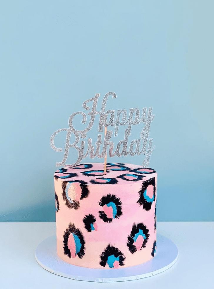 Graceful Leopard Cake