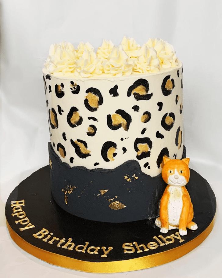 Pleasing Leopard Cake