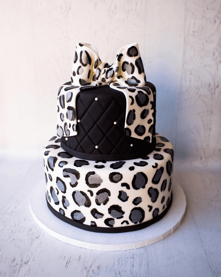 Refined Leopard Cake