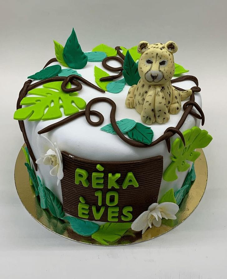 Resplendent Leopard Cake