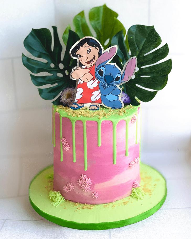 Admirable Lilo and Stitch Cake Design