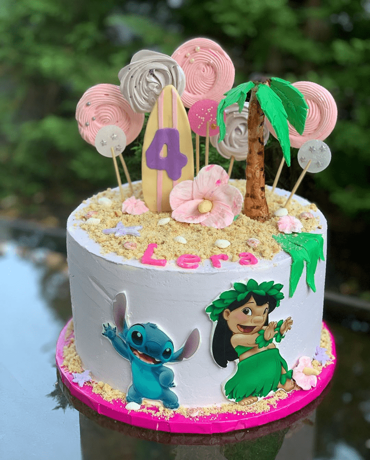 Beauteous Lilo and Stitch Cake