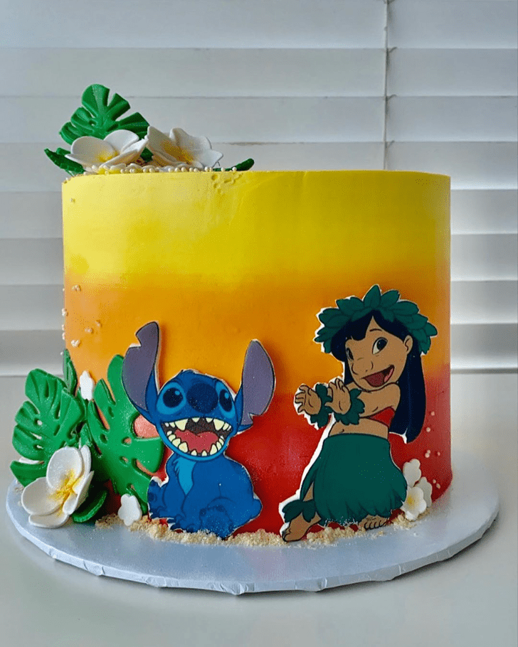 Charming Lilo and Stitch Cake