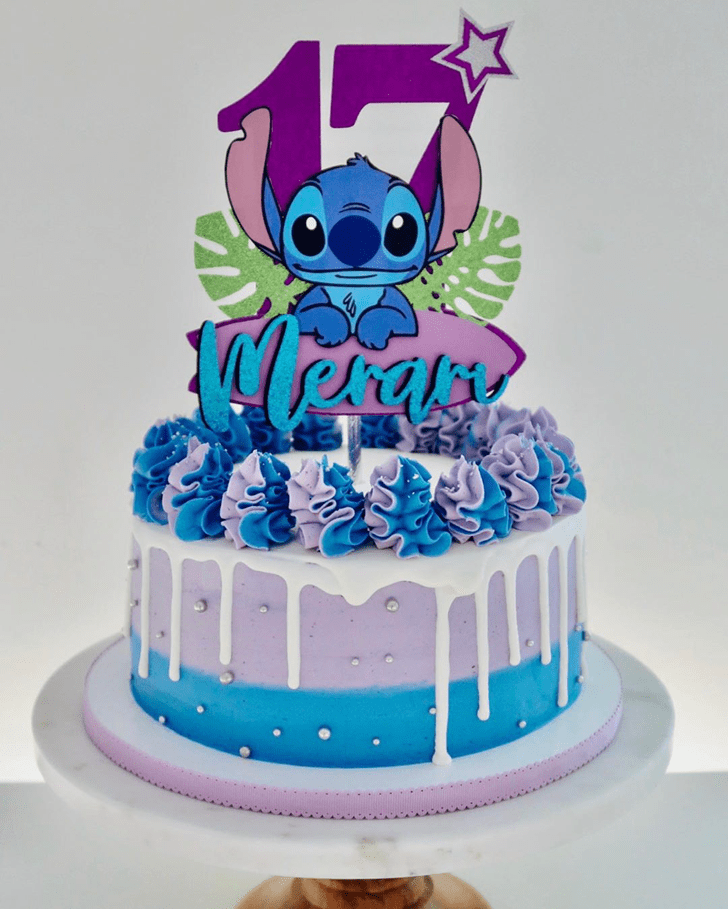 Comely Lilo and Stitch Cake