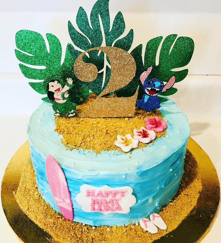 Delicate Lilo and Stitch Cake