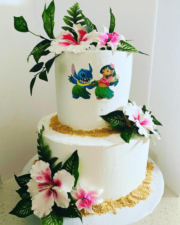 Elegant Lilo and Stitch Cake