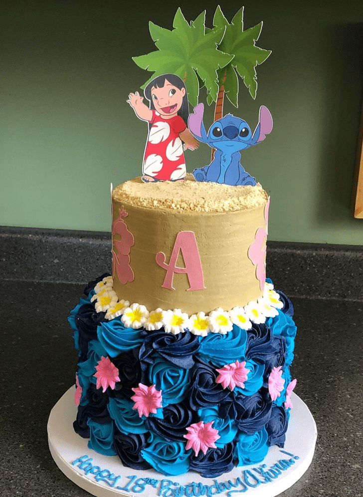 Enthralling Lilo and Stitch Cake
