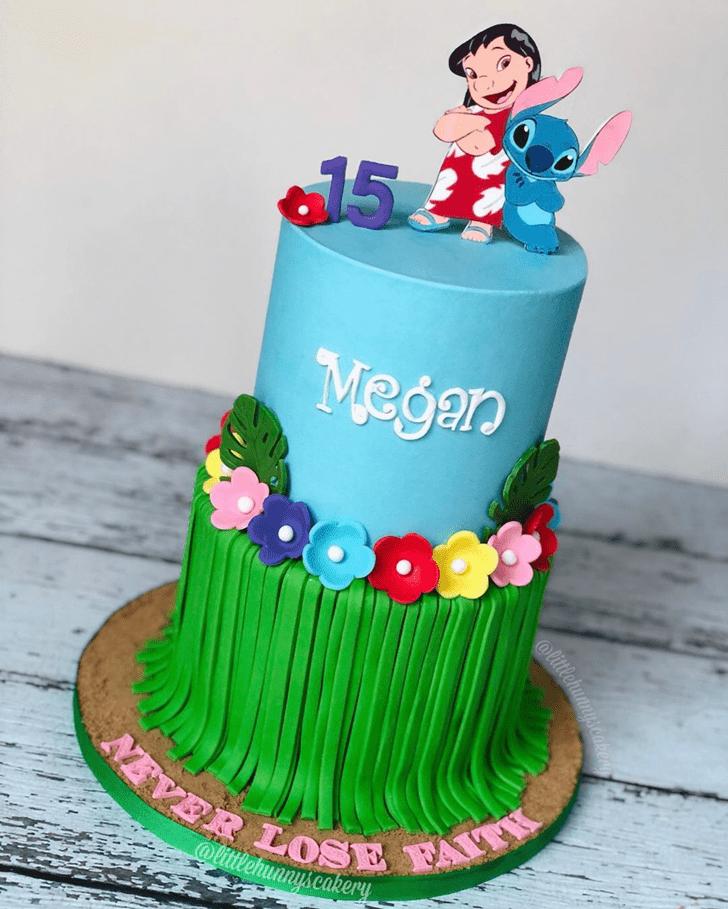 Exquisite Lilo and Stitch Cake