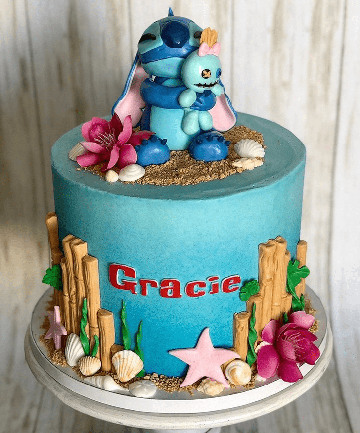 Marvelous Lilo and Stitch Cake
