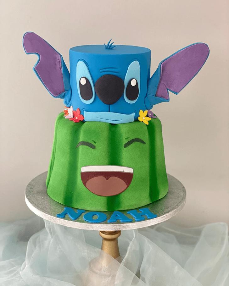 Pleasing Lilo and Stitch Cake