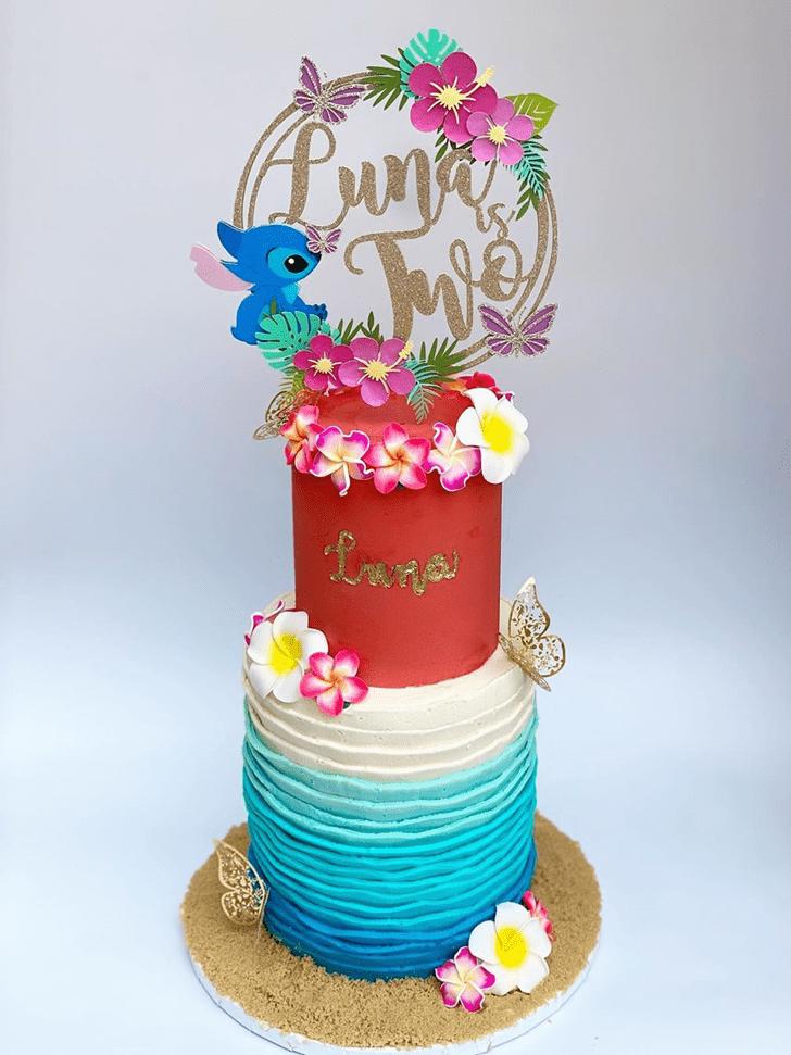 Ravishing Lilo and Stitch Cake