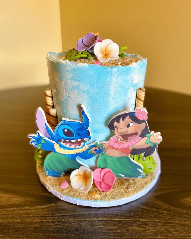 Refined Lilo and Stitch Cake