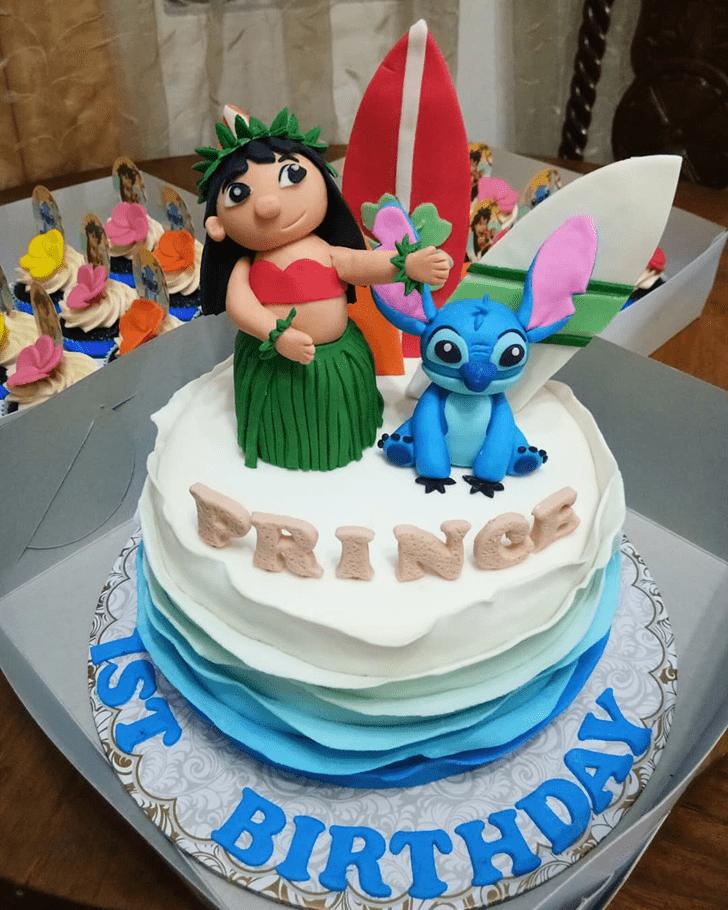 Shapely Lilo and Stitch Cake