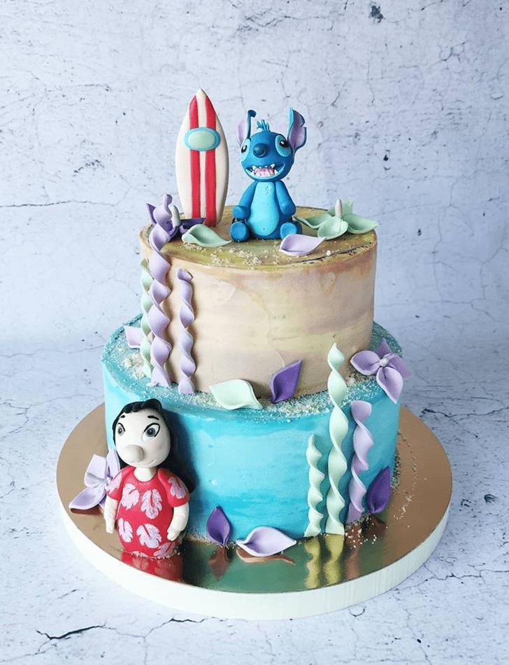 Stunning Lilo and Stitch Cake