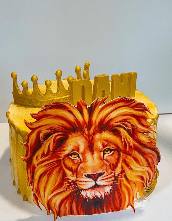 Angelic Lion Cake