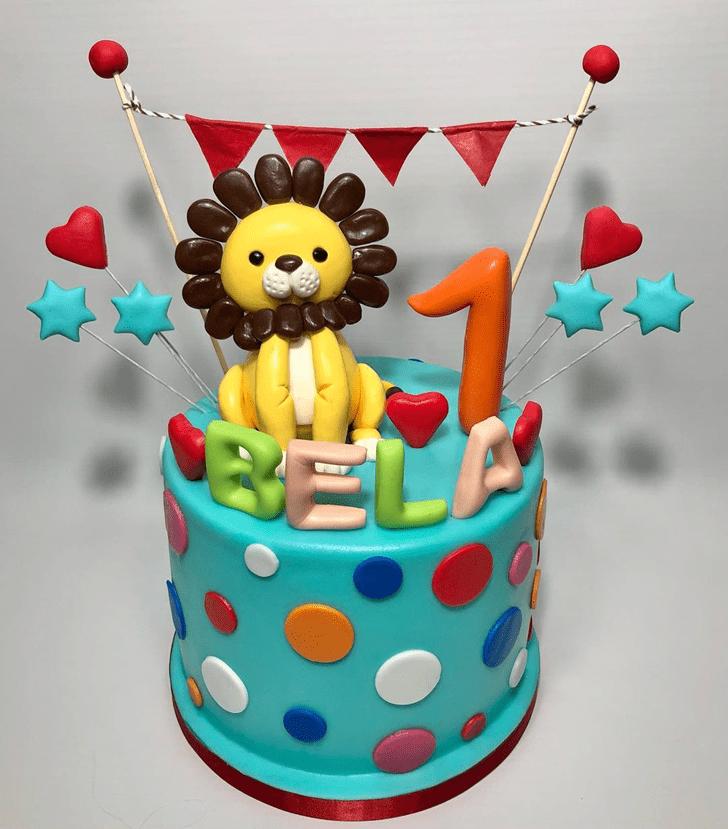 Appealing Lion Cake