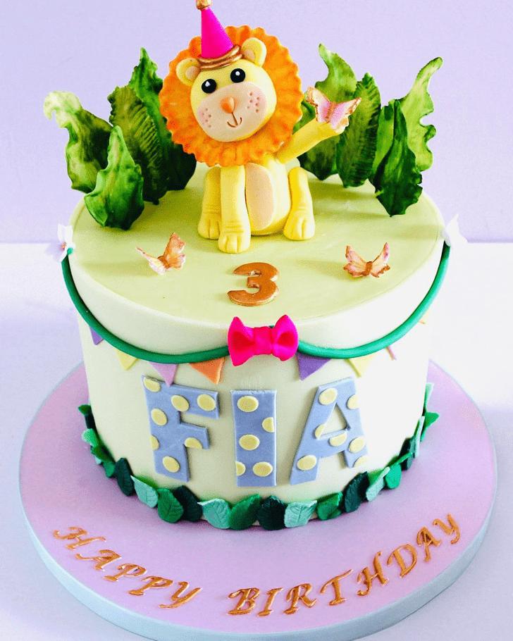 Bewitching Lion Cake