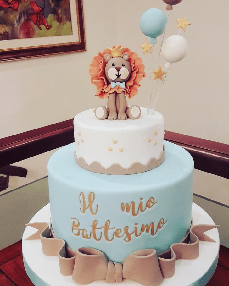 Admirable Lion Cub Cake Design