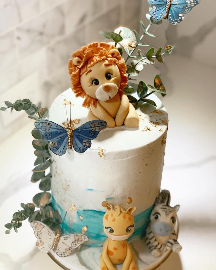 Adorable Lion Cub Cake