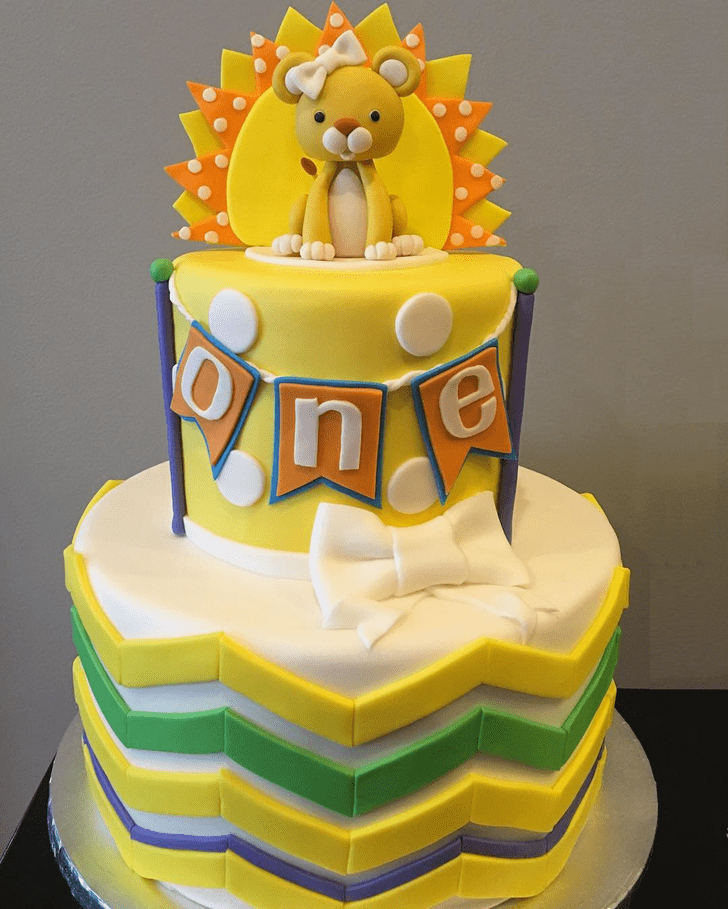 Angelic Lion Cub Cake