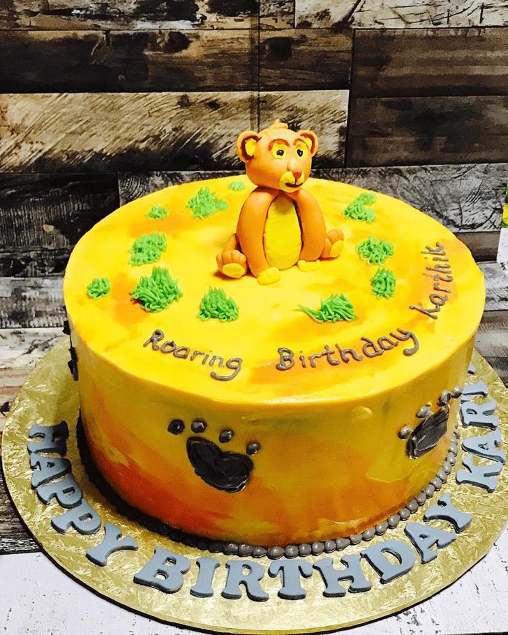 Beauteous Lion Cub Cake